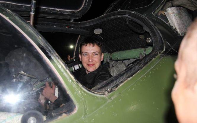 Савченко вночі побувала в зоні АТО (ФОТО)