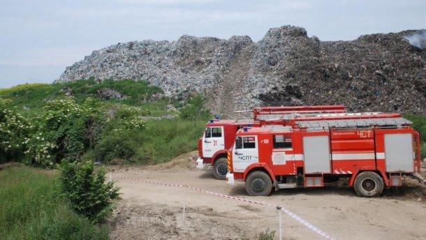 Пожежу на Грибовицькому сміттєзвалищі вдалося локалізувати