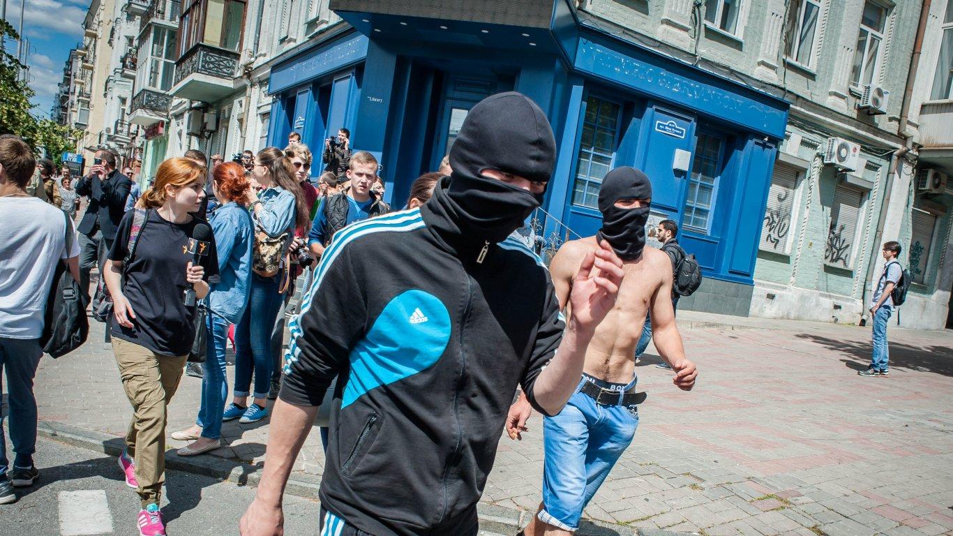 """""""Сейчас становится несколько """"горячее"""" в центре города, хотя Марш равенства завершился"""", – представитель столичной полиции"""