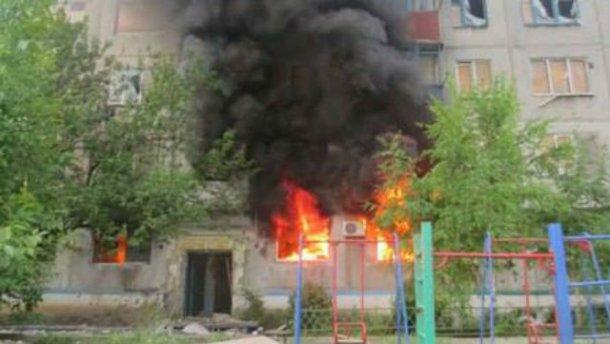 Боевики из танка обстреляли мирную Красногоровку (ФОТО, ВИДЕО)