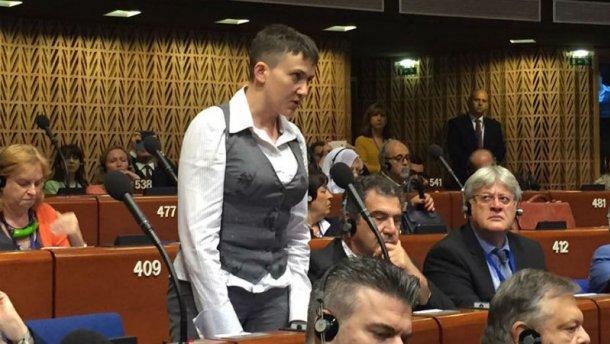 Ми платимо кров'ю за спокій Європи, — заявила Савченко на сесії ПАРЄ (ВІДЕО)