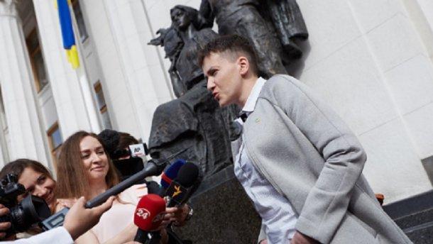 Савченко висловилася за поетапне скасування санкцій проти Росії