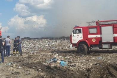 Вночі на Львівщині горіло ще одне сміттєзвалище