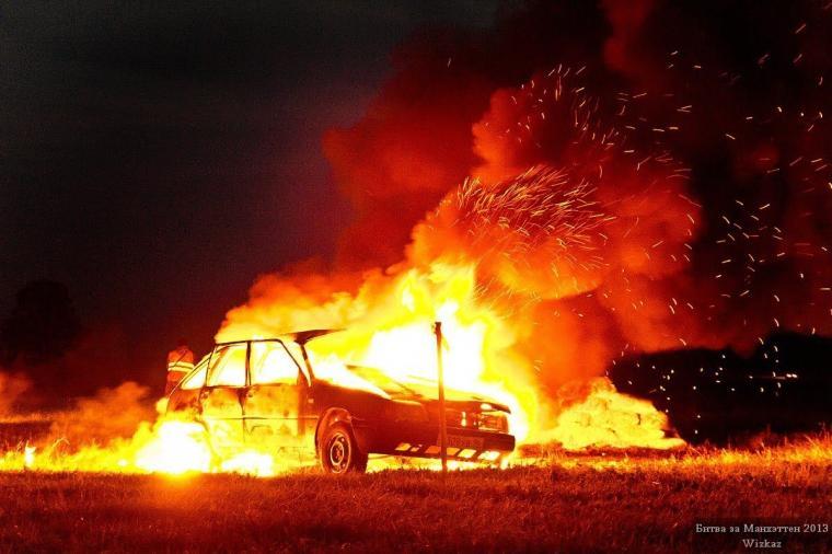 В «ДНР» місцеві мешканці спалили свої автомобілі, «віджаті» окупантами