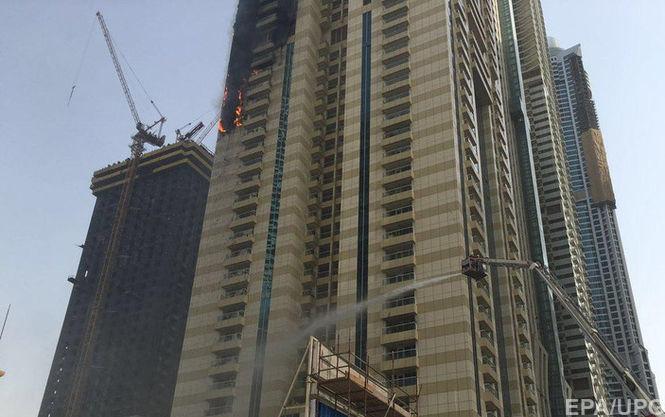 У Дубаї загорівся один з найвищих хмарочосів в ОАЕ (ВІДЕО)