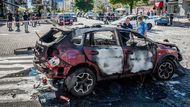В мережі з'явилося відео моменту вибуху автомобіля з Шереметом