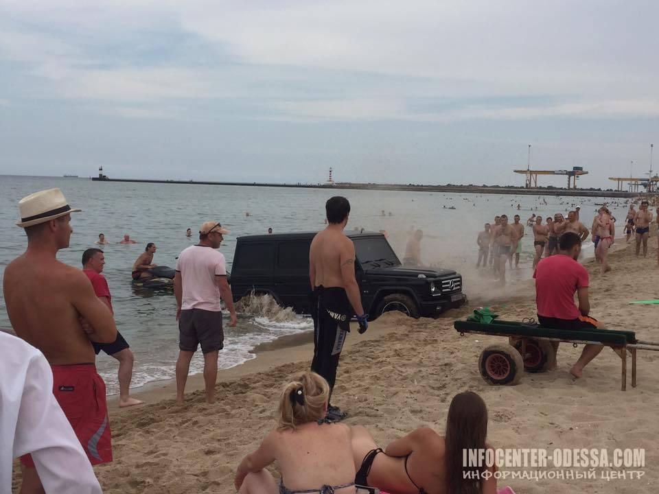 """В Одесі на пляжі відпочивальники втопили """"Гелік""""(ФОТО)"""