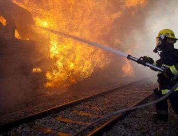 На Львівщині пасажири на ходу вистрибували із палаючого поїзда (ВІДЕО)