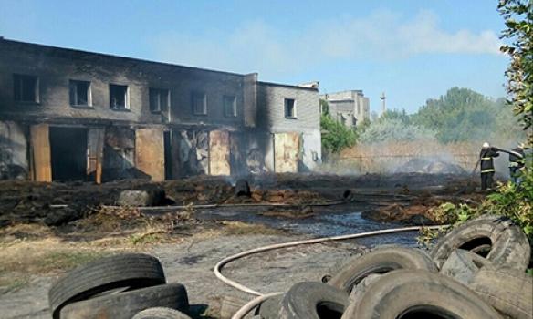 Масштабна пожежа у Миколаївській області