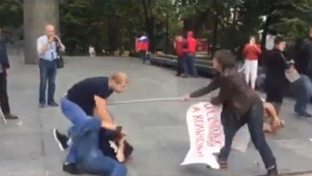 У Москві побили учасників проукраїнської акції