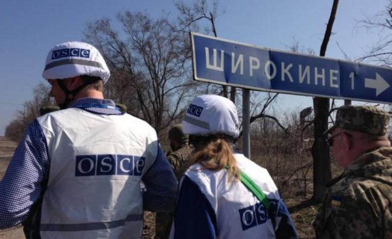 """ОБСЄ повідомили, що член """"ДНР"""" погрожував спостерігачам протипіхотної міною"""