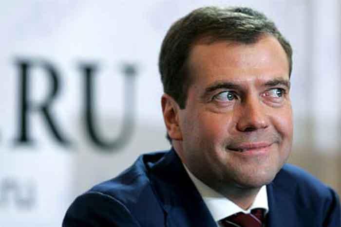 У Мережі висміяли Медведєва в американській куртці зі зрізаними нашивками (ФОТО)