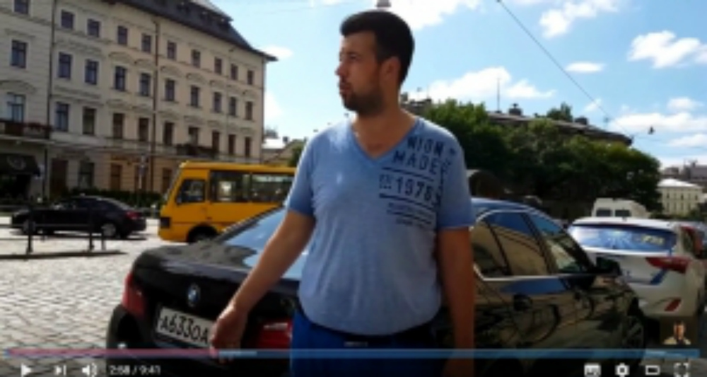 З російськими номерами по Львову: пітерський відеоблогер про реакцію львів'ян (ВІДЕО)