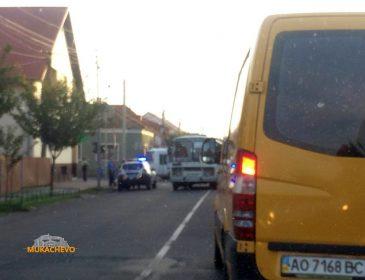 У Мукачеві маршрутка закатала в асфальт велосипедиста (ВІДЕО, ФОТО)