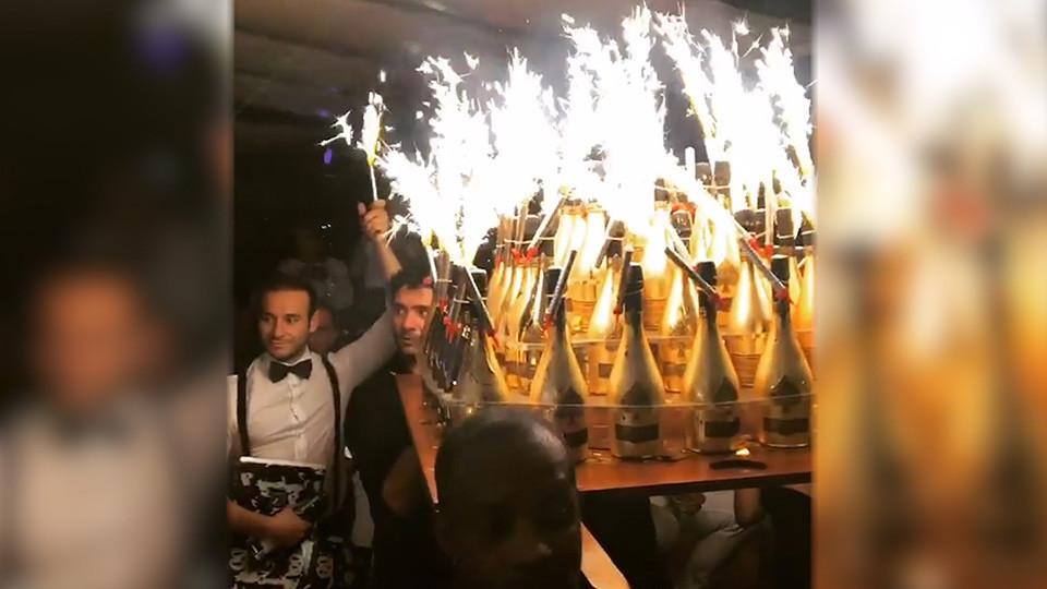 П'янка, розпуста, понти: як син мільярдера відсвяткував день народження (фото, відео)