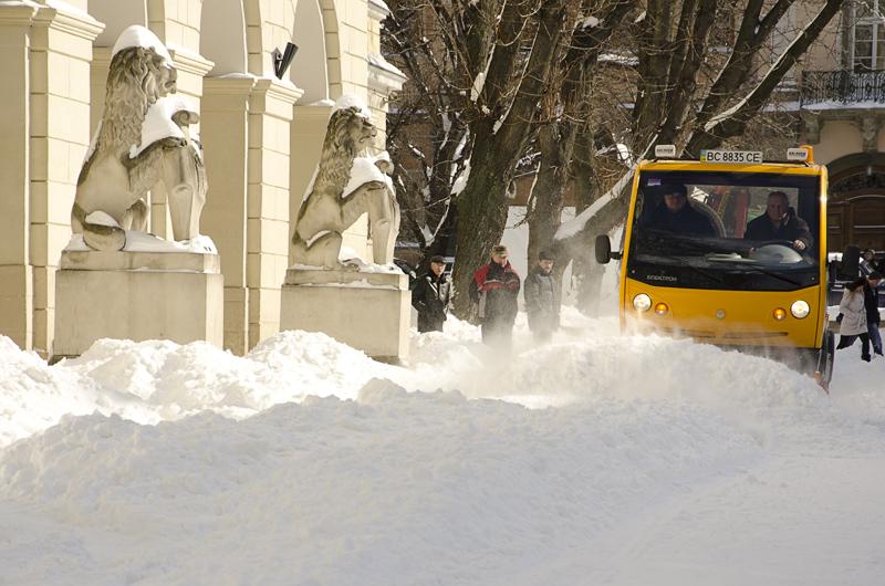 У Львові випало майже 100% місячної норми снігу
