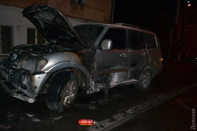 """В Одесі спалили авто лідера місцевого """"Автомайдана"""""""