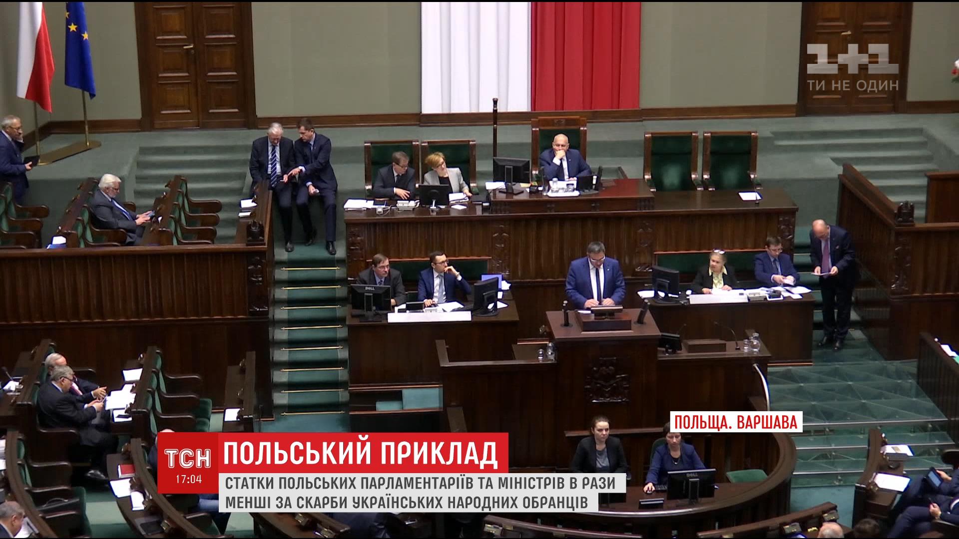 Народ в шоці: польські депутати у 5 разів бідніші за українських нардепів, хоча мають більші зарплати