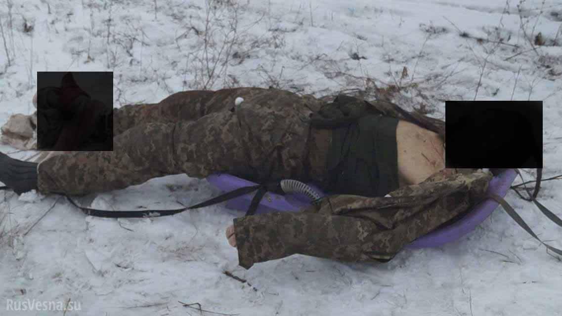 """Це просто верх цинізму: терористи виклали фото та відео з покаліченим тілом убитого воїна """"Козака"""" (ФОТО, ВІДЕО +18)"""