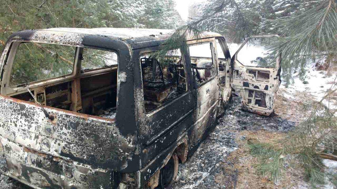 Контрабандисти у Волинській області спалили автобус з сигаретами
