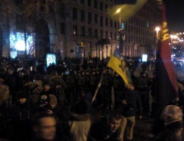 У мережі з'явилося відео, де радикали побилися з копами під час маршу (ВІДЕО)