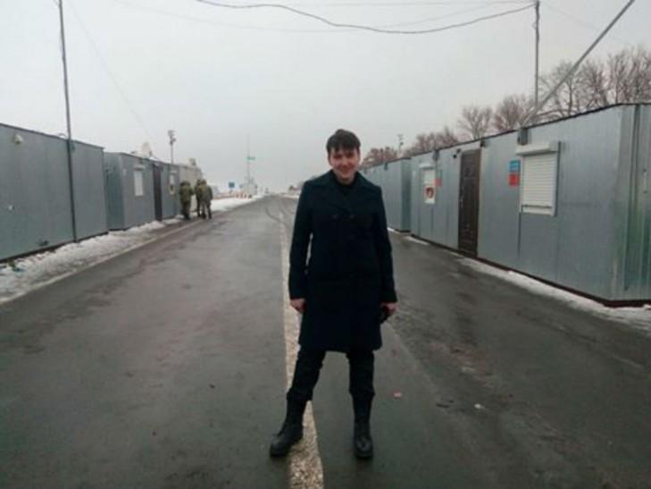 Савченко в зоні АТО показала, як переходить лінію розмежування