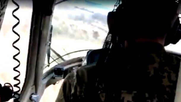 В мережі з'явилося останнє ВІДЕО польоту з кабіни військового вертольота, який впав під Краматорськом