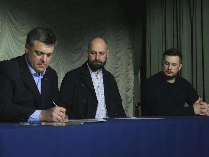 """""""Три богатирі"""": українські нацоналісти об'єднались (ФОТО)"""