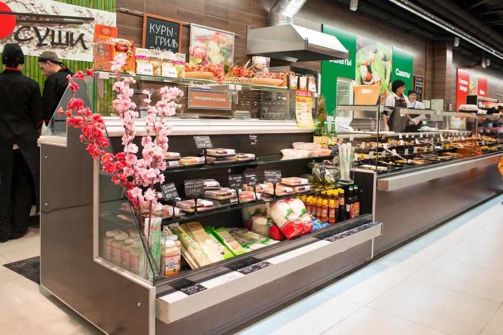 Витрины для суши (суши-кейсы) – японские блюда выглядят аппетитно и презентабельно