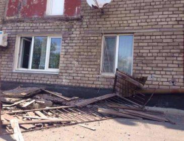 ТЕРМІНОВО!!!  В центрі міста обвалився балкон. Такого жаху Ви ще не бачили (ФОТО)
