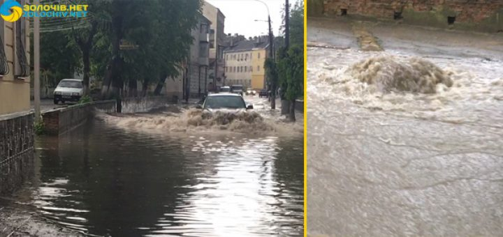 Тільки подивіться, що  там коїться! Після страшної грози місто на Львівщині потопає у водах! Неможливо вийти на вулицю!