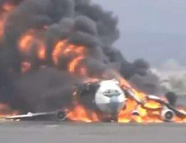 Страшна трагедія: З'явилось моторошне відео падаючого літака. Кров холоне в жилах