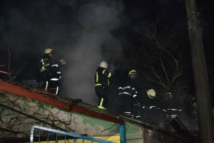 В Одесі сталася пожежа, згорів двоповерховий будинок