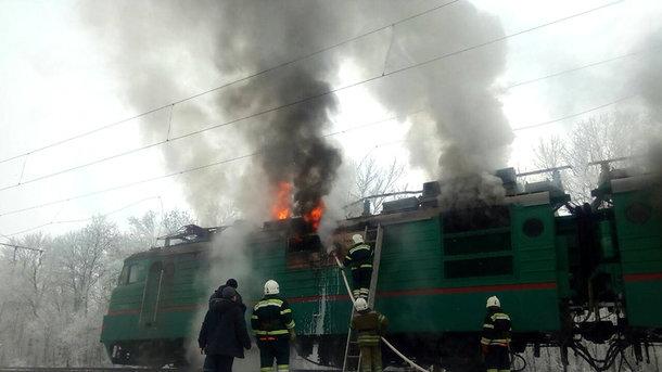 Страшна пожежа: На Полтавщині горів потяг (ФОТО)
