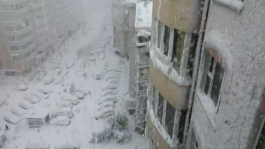 """""""Автомобілі повністю засипані снігом, дерева повалені і…"""": Стихія завдала нищівного удару Москві, такого ще не було"""