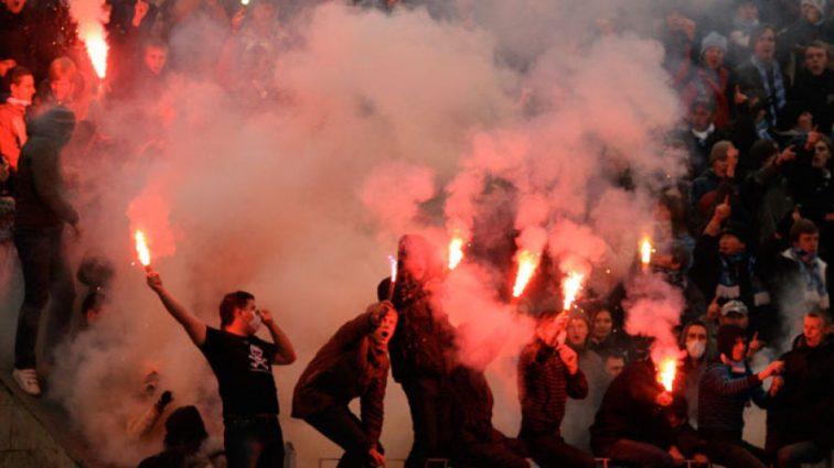 Шахтар-Динамо: Фанати киян спровокували бійку
