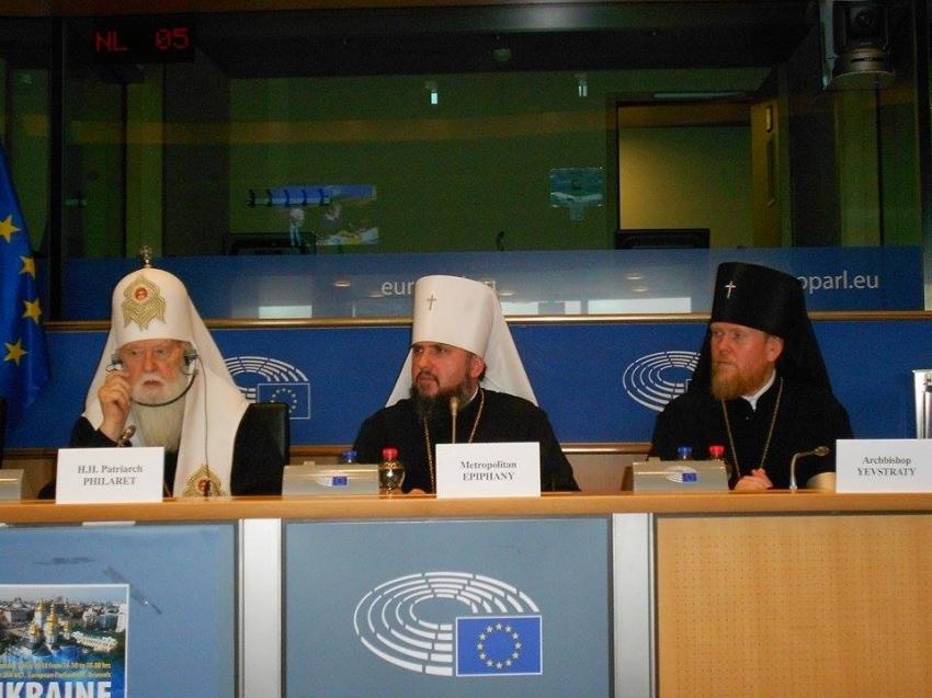 """""""Це не заслуга Порошенка, а…"""": Патріарх Філарет зробив гучну заяву у Європарламенті"""