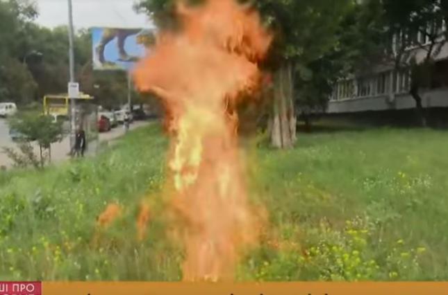 На знак протесту колишній військовий підпалив себе біля Міноборони