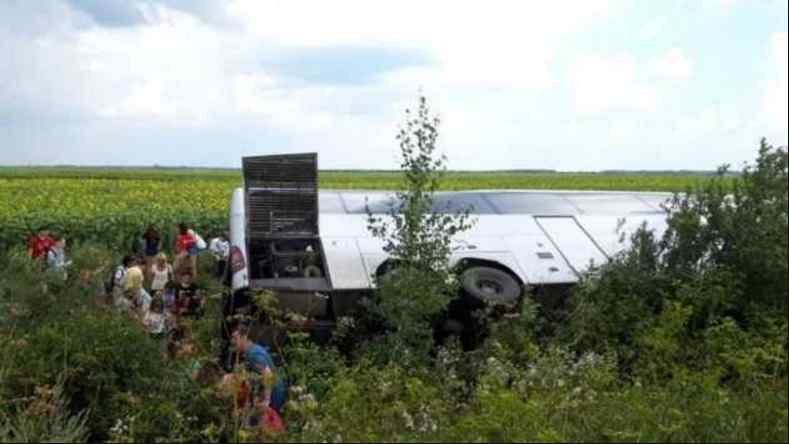 """""""Їхали на відпочинок"""": На Волині перекинувся автобус із білоруськими туристами"""