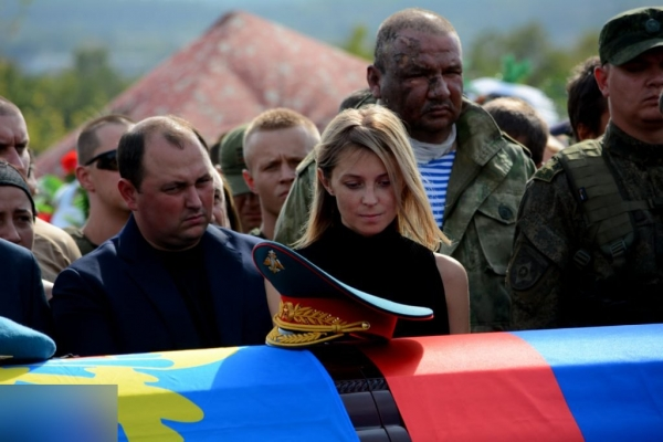 "На похорони Захарченка прийшла ""чорна вдова"""