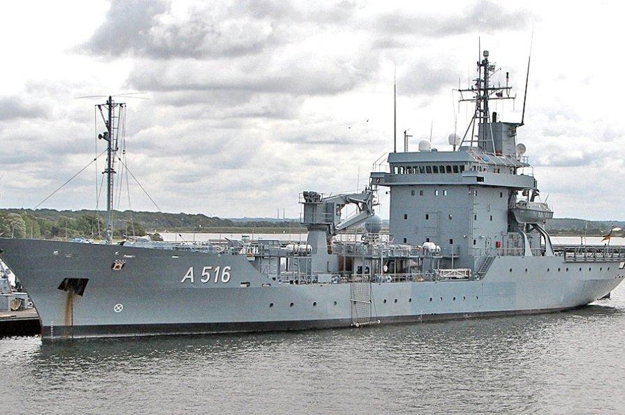 Не просто корабель, а плавуча база! Німецьке військове судно увійде в Чорне море