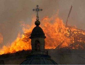 У Івано-Франківській області сталася пожежа на території чоловічого монастиря ПЦУ, перші фото події