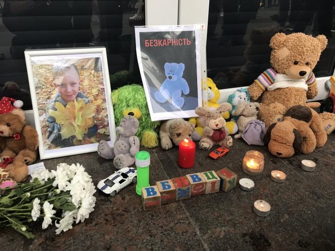 Вбивство дитини поліцейськими: під МВС зібрався мітинг за відставку Авакова