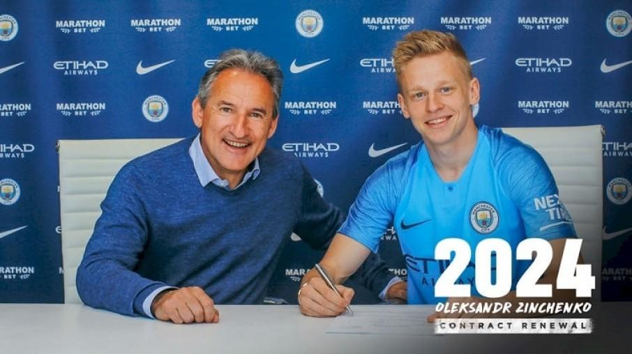 """""""Я щасливий!"""": Українець Олександр Зінченко подовжив угоду з «Манчестер Сіті» до 2024 року"""
