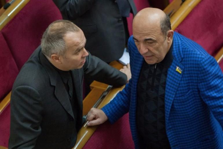 Спочатку телеміст з Росією, тепер мітинг на свій захист: Рабінович і Шуфрич вийшли під офіс президента