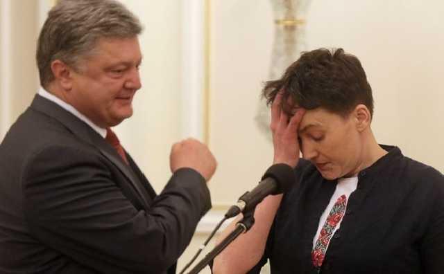 """""""Чого ця мерзота має право качати країну?"""": Савченко різко висловилась на адресу Порошенка. Здав Україну!"""