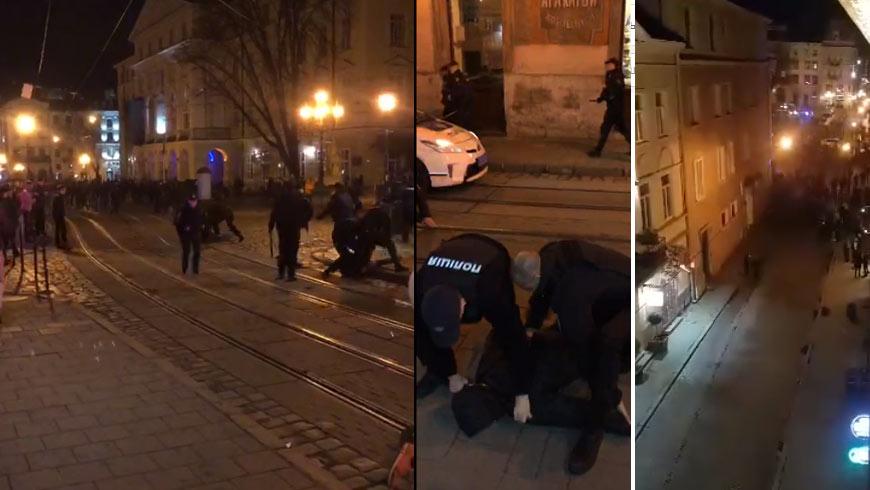 Неможливо було зупинити! У Львові сталась справжня бійня. Розбиті машини, поранені поліцейські