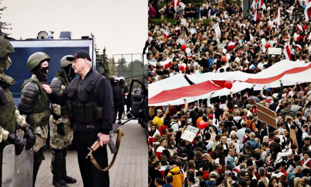 Почалося! Лукашенко стягнув військову техніку, просто в центрі Мінська: автозаки несуться – зараз