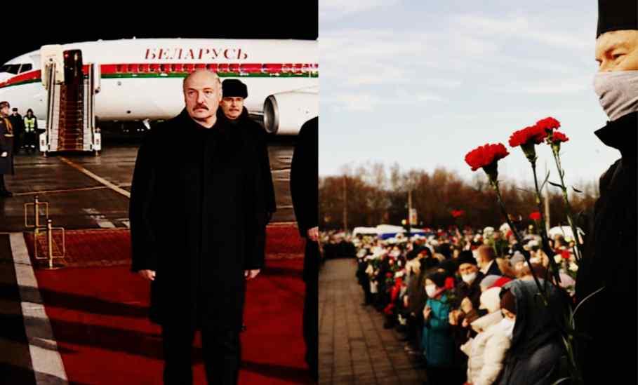 У день похорону! Пару хвилин тому – борт вже у небі. Лукашенко впав, цинічно кинули, син там. Це жах!