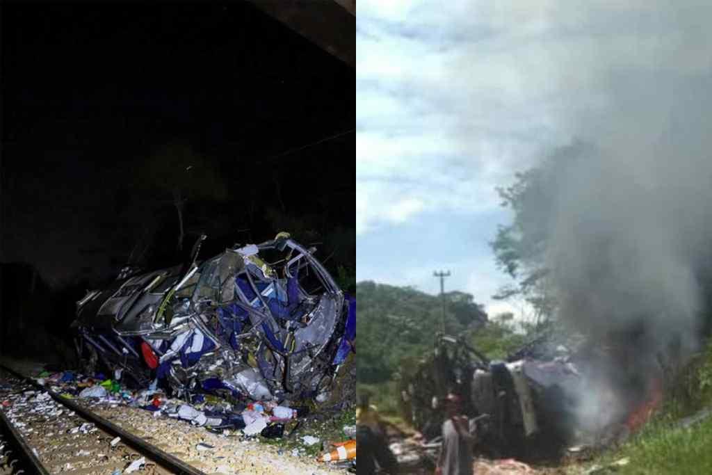 """Відмовили гальма! Пасажирський автобус зірвався з мосту – моторошна трагедія. Десятки жертв – на місці ДТП """"справжнє пекло"""""""